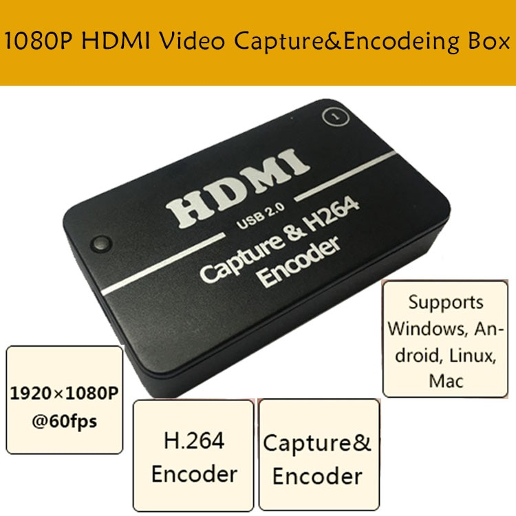 MPEG-4 H.264 HD التشفير ل IPTV يعيش تيار البث HDMI فيديو تسجيل HDMI الفيديو التقاط بطاقة