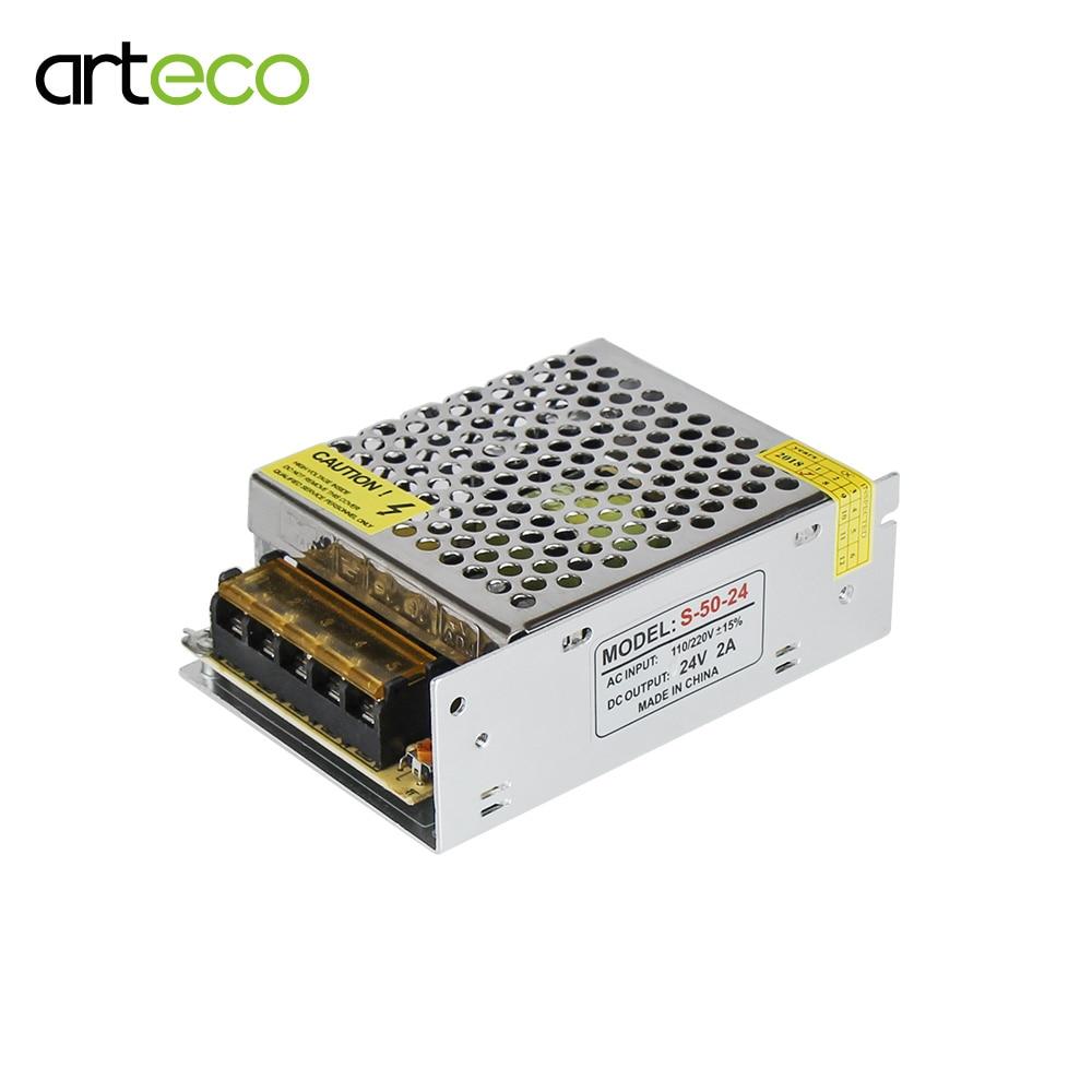 Fuente de alimentación de conmutación 12 V 2A 24 W para tira de LED 24 W Transormer de iluminación AC 220 V/110 adaptador de V a DC12V