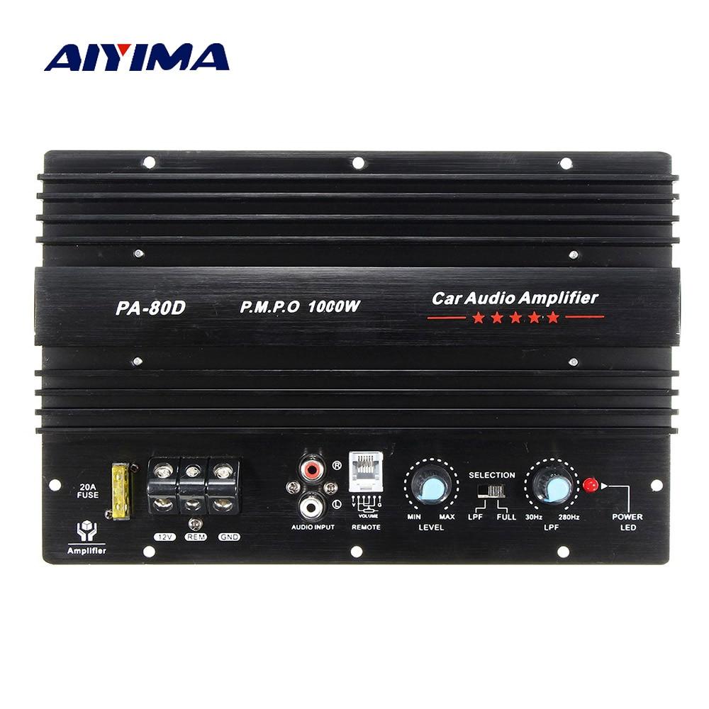 AIYIMA Мощный сабвуфер, автомобильные усилители, аудио Плата 1000 Вт, усилитель звука DIY для басовых динамиков, автомобильная аудиосистема, домашний кинотеатр