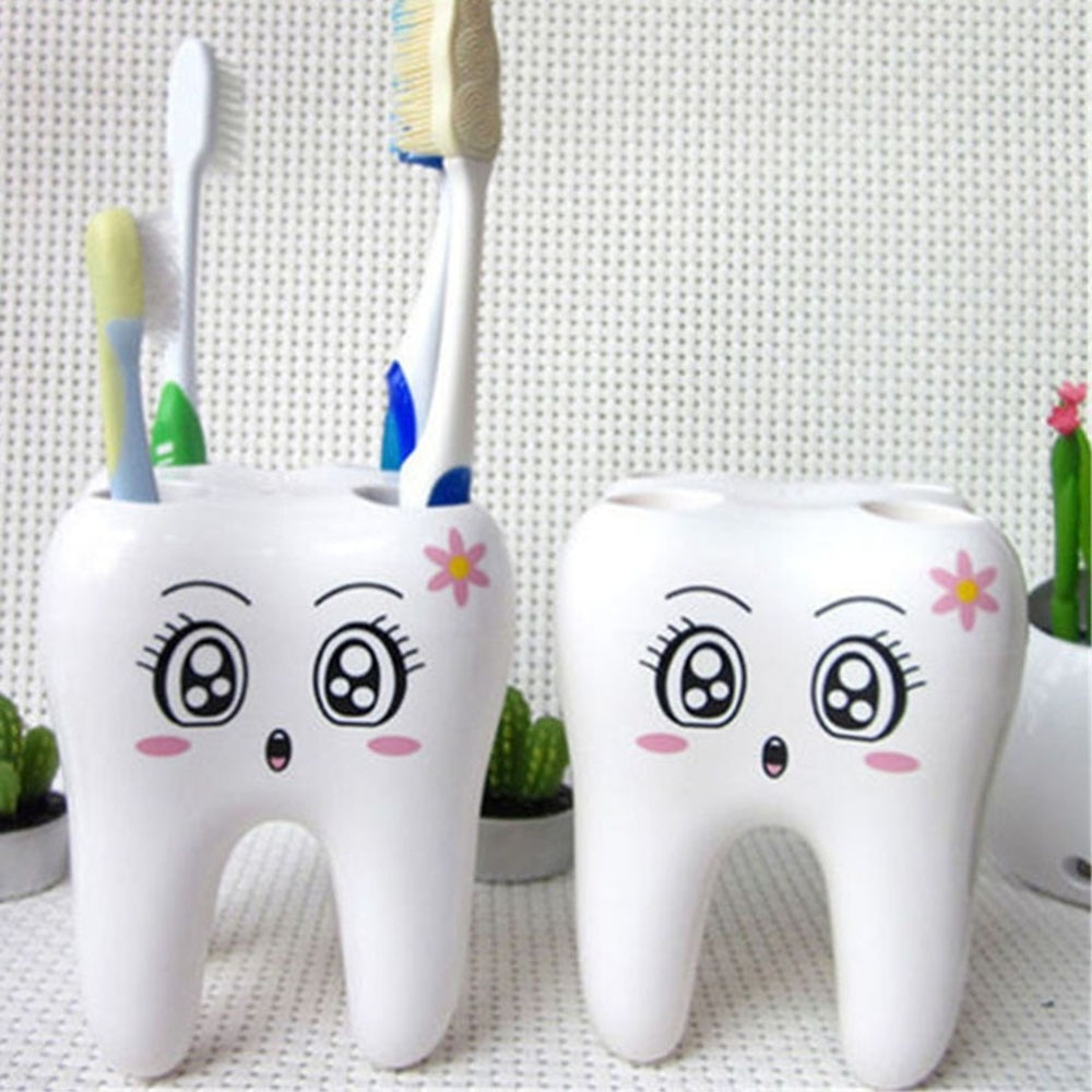 1 pcs Hot Sale Teeth Style Toothbrush Holder Stand Brush Rack Tooth Brush Shelf Shaving Razor Holder