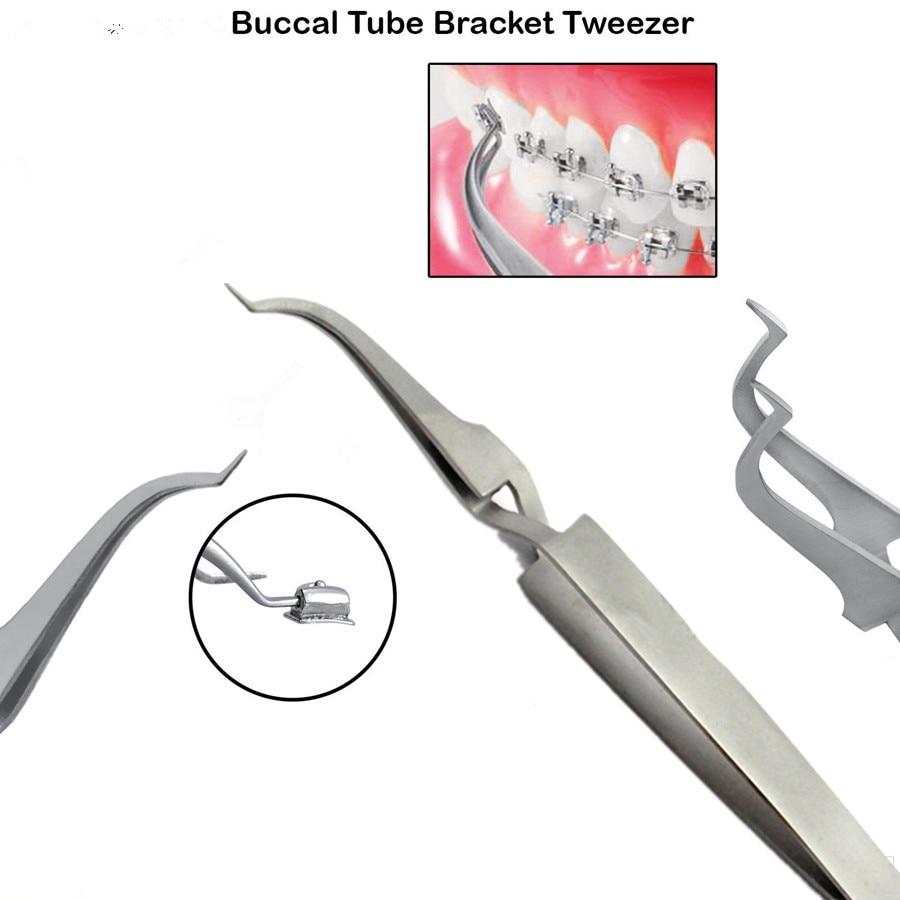 Dental ortodôntico posterior suporte b bucal tubo de ligação pinça titular placer instrumento ferramenta dentista