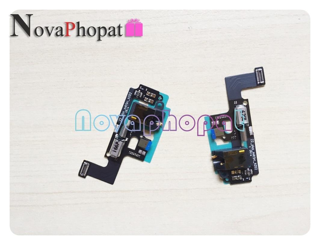 Novaphopat Earphone Audio Jack Sensor Flex Cable For Lenovo ZUK Z2 Plus / Z2 Headphone Jack Microphone Vibrator Flex Ribbon