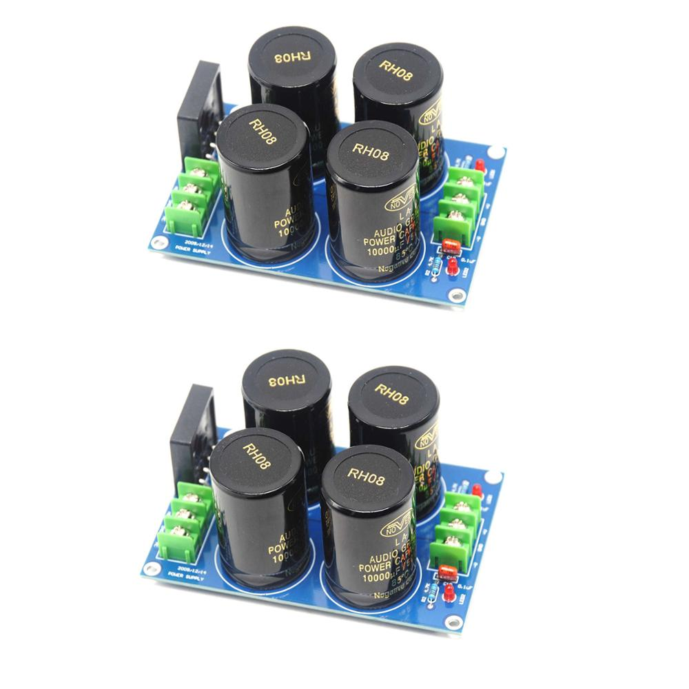 2pcs NOVER 10000UF/50V*4 35A Audio Power Supply Amplifier Board Diode Rectifier diy pcb board for 62pcs capacitor array power supply rectifier board