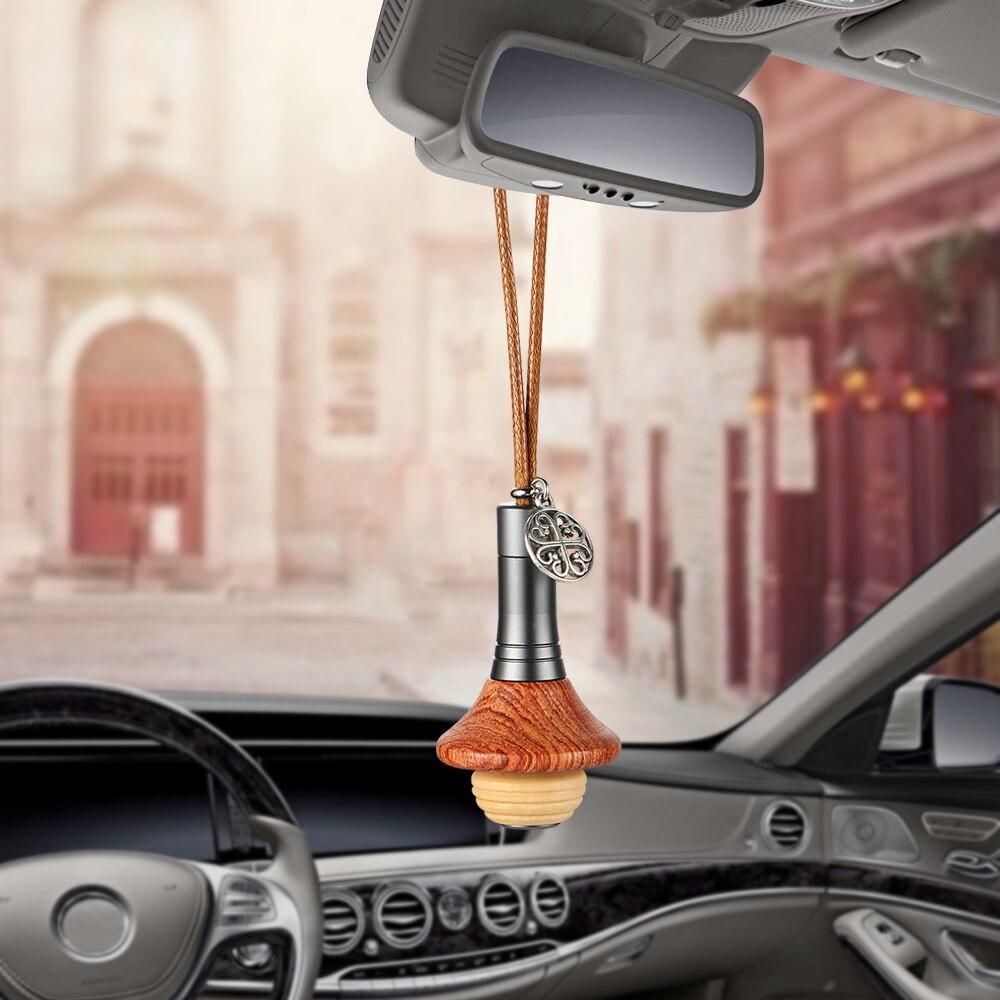 Perfume olor decoración colgante aroma madera UFO ambientador automóviles Interior espejo retrovisor fragancia difusor ajuste
