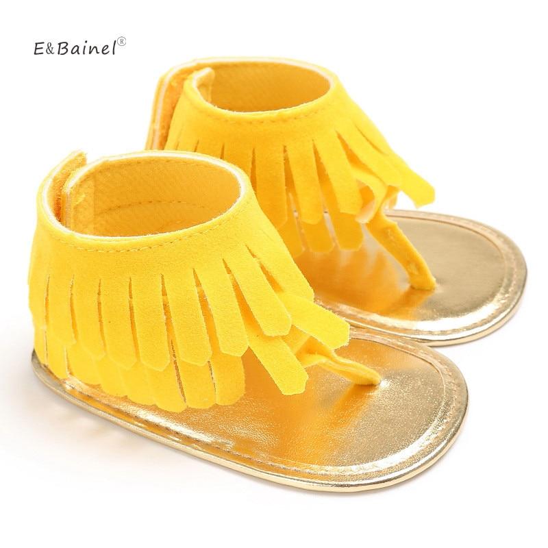 Tassel Summer Baby Soft Bottom Baby Girls Shoes Infant Anti-slip Newborn Hook Loop Baby Shoes First