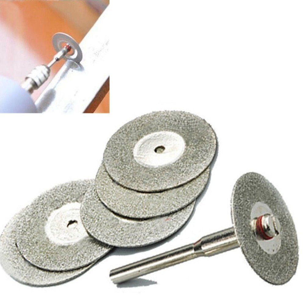 5 uds 22mm accesorios de herramienta giratoria mini taladro disco de corte Muela de Diamante hoja de sierra circular abrasiva