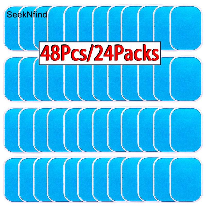 48 Uds almohadillas de Gel para EMS Abdominal ABS entrenador pérdida de peso cadera Estimulador muscular ejercicio reemplazo masajeador Gel parche