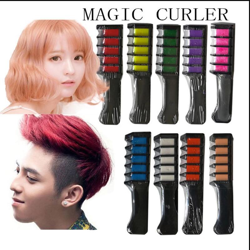 Neue Temporäre Haar Kreide Haar Farbe Kamm Dye Salon Party Fans Cosplay Werkzeug 88 WH998