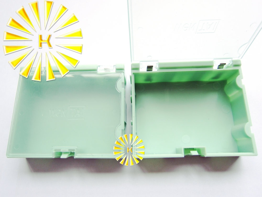 50 stücke x #3 Grün Farbe Kondensator Widerstand SMT Elektronische Komponenten Mini Storage box Praktische Schmuck Storaged Fall Stecker