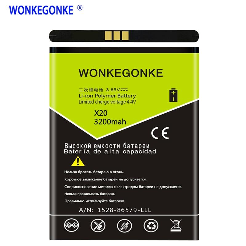 WONKEGONKE para Doogee X20 BAT17582580 X20L batería de teléfono móvil de alta calidad con número de seguimiento
