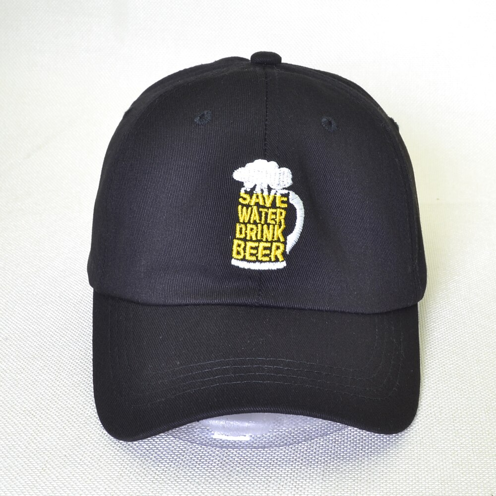 Save Water Drink Beer hat 100% cotton Baseball Cap men women letter snapback Dad hats unisex adjustable hip hop caps gorras
