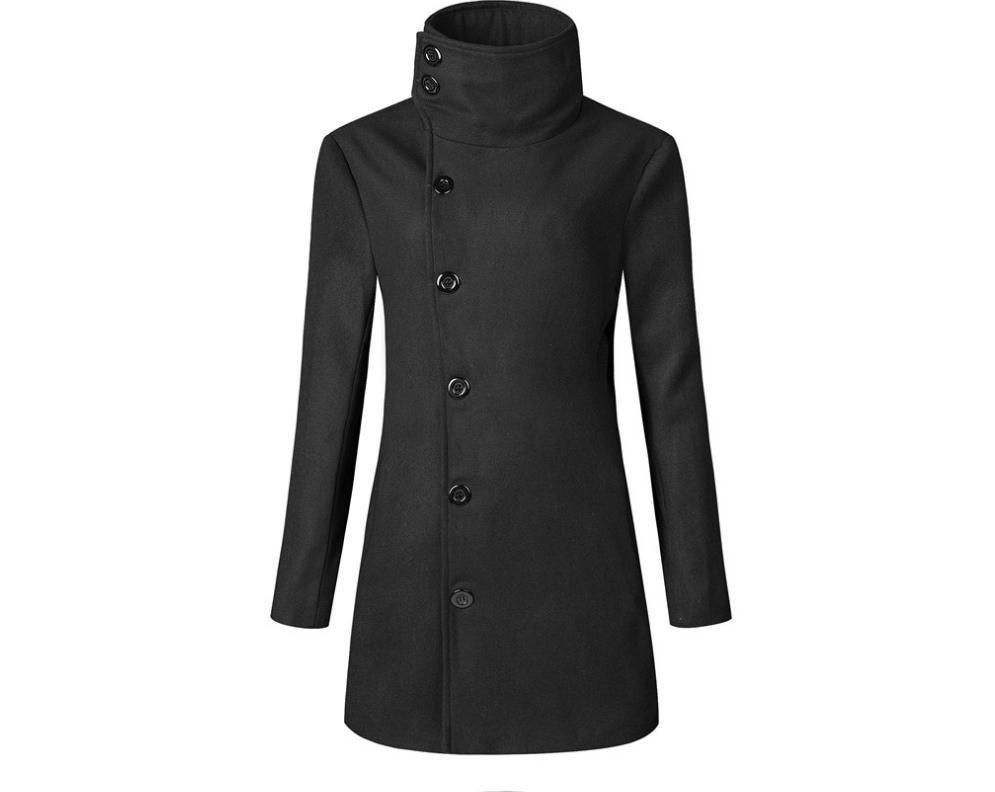 Men Long Section Woolen Jacket Wool Blends Trench Coat Europe  United States Fashion Trend Woolen Coat Jacket -1161