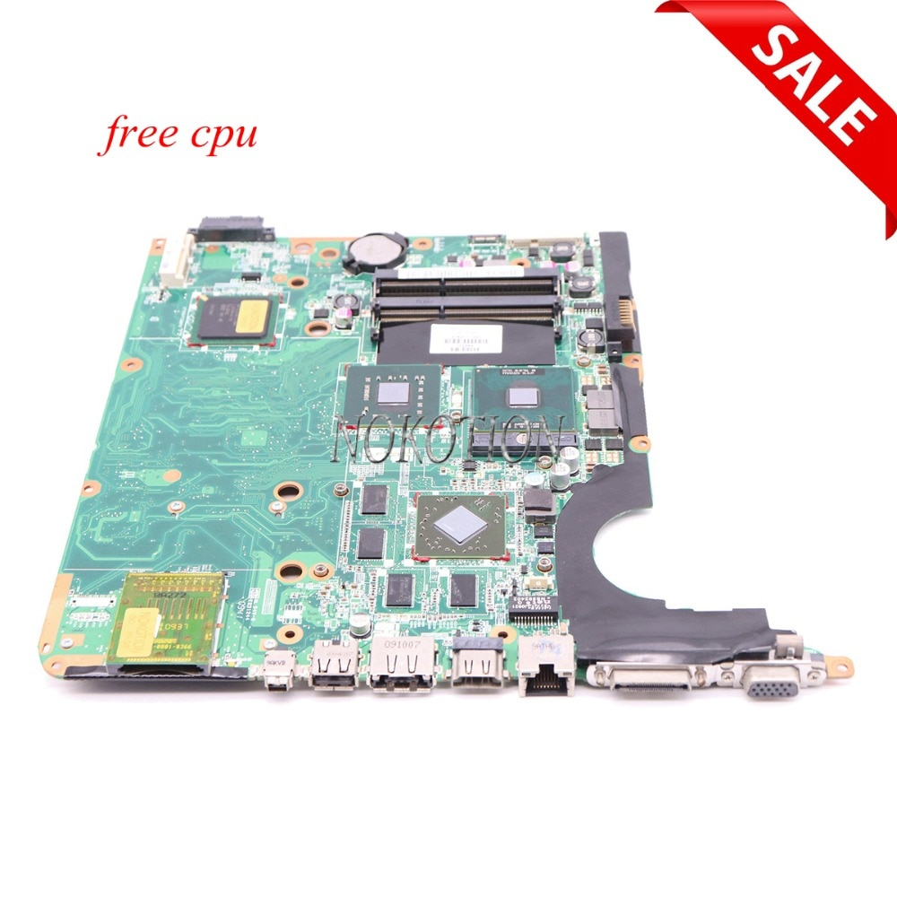 NOKOTION 578377-001 placa base para ordenador portátil Hp Pavilion DV6 DV6-1000 Tablero Principal PM45 DDR3 con tarjeta gráfica CPU gratis