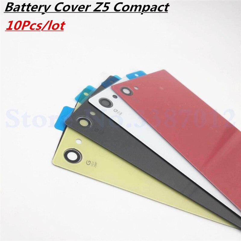 10 шт./лот Новая задняя крышка батареи Дверь для Sony Xperia Z5 Compact Mini E5803 E5823 Корпус Задняя стеклянная крышка с NFC