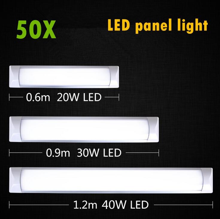Panel de luz LED 0,6 m 0,9 m 1,2 m lámpara de listón plano LED lámparas de techo montadas en superficie luces de purificación T5 T8 tubo de AC85-265V de luz