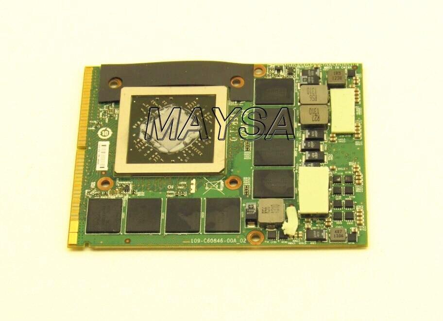 MS-1W0D1 para MSI GX70 MS-176K para Radeon HD 8970M GDDR5 2Gb tarjeta VGA 109-C60846-00A 100% trabajo perfectamente
