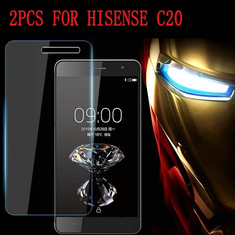 2PCS Full Glue Tempered Glass For Hisense C20 Protective Film 9H Screen Protector For Hisense C20 C20S KingKong II