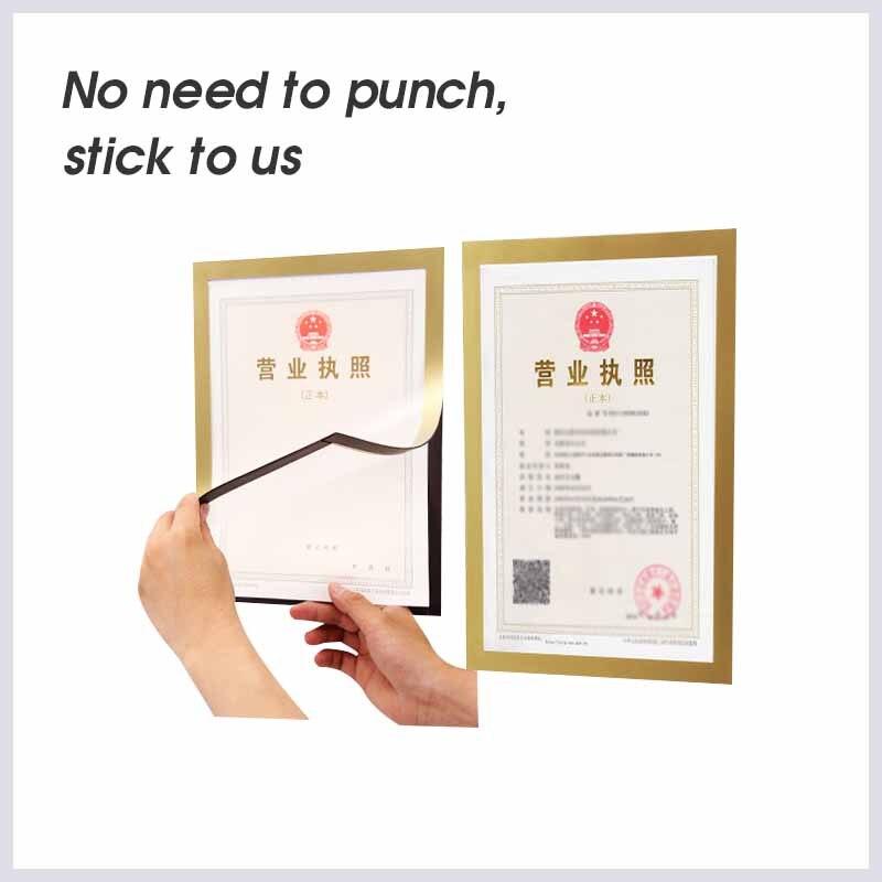 A6 tablero magnético multifunción de pvc imagen montada pared clara cartel Marco de exhibición de documentos hoja de plástico sobre de papel