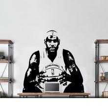 Lebron James autocollant Mural NBA Cavs joueur de basket vinyle décalcomanie décor école dortoir salon adolescent chambre maison Art Mural