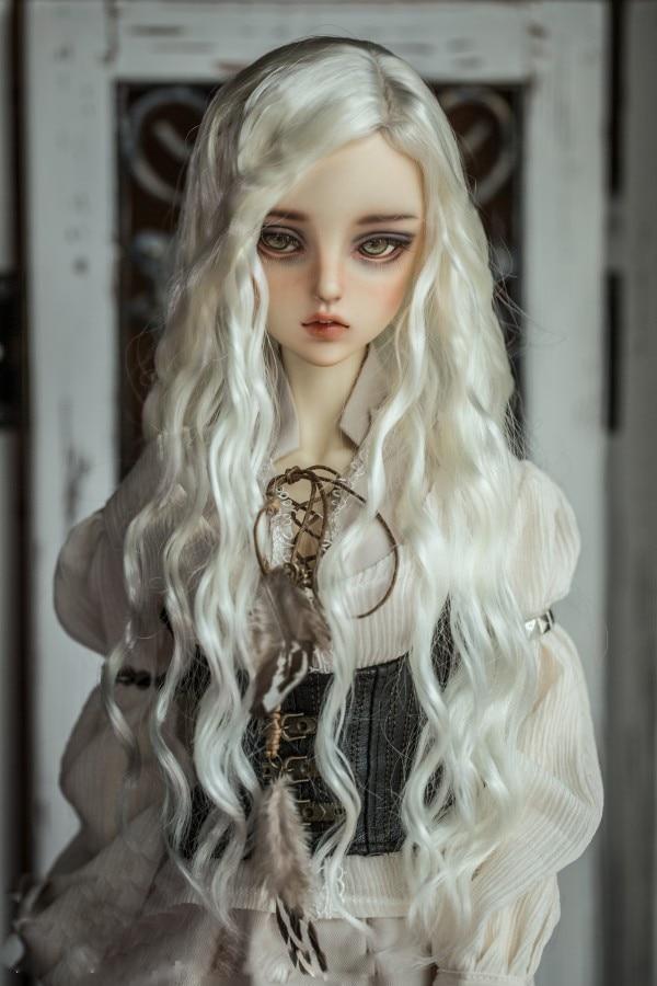 BJD doll wigs imitation mohair for 1/3 1/4 1/6 BJD DD SD MSD YOSD doll wire long curly hair wigs doll accessories
