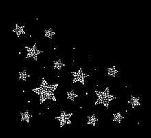 Autocollants étoiles flatback hot fix 2 pièces/lot   Autocollants strass sur la fixation par transfert, strass, pierre de design