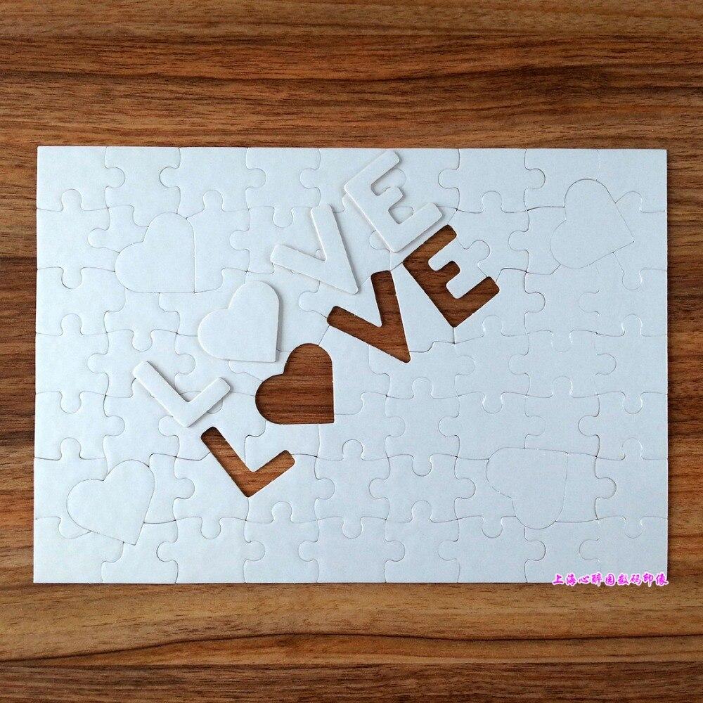 Envío Gratis, rompecabezas en blanco con sublimación de amor A4, 10 Uds., rompecabezas DIY para manualidades, rompecabezas, prensa de calor, transferencia de tinta por sublimación