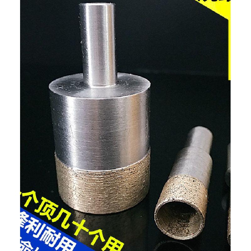 Sintering Diamond Bit cerámica mármol escariador 10mm Shank 11-24mm brocas para vidrio agujero de perforación dedo anillo herramientas de perforación