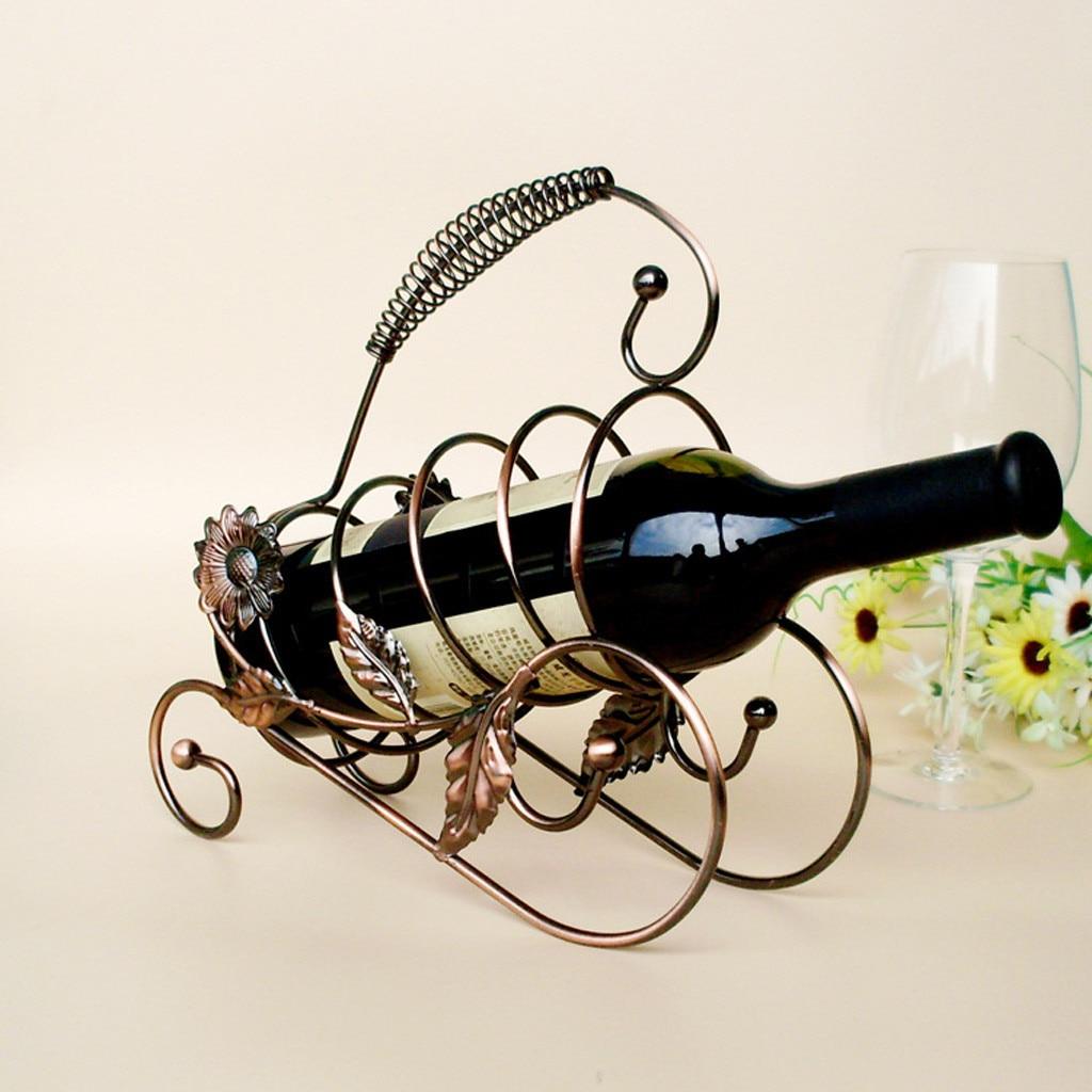 Home Storage Organization Metal Wine Rack Stand Bottle Holder Storage Wedding Party Decor Ornament Mason Jar Storage Rack