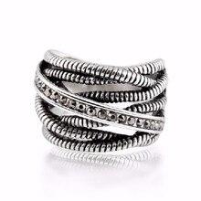 2020 fête à la mode anneaux bijoux Anillos mode 925 nom anneau pour femme Unique thaïlande cristal de swarovski rétro charme