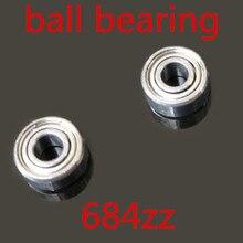 50 pçs/lote Alta Qualidade 684ZZ 4x9x4mm rolamento de esferas de parede fina sulco profundo 4*9*4mm 4mm Rolamentos de esferas Em Miniatura