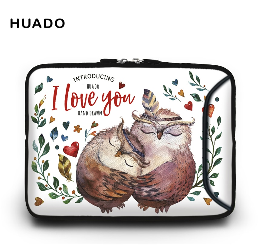 Cartoon owl Laptop bag case for hp/lenovo/sony/dell/xiaomi computer sleeve bag for macbook air/pro 13 15 case