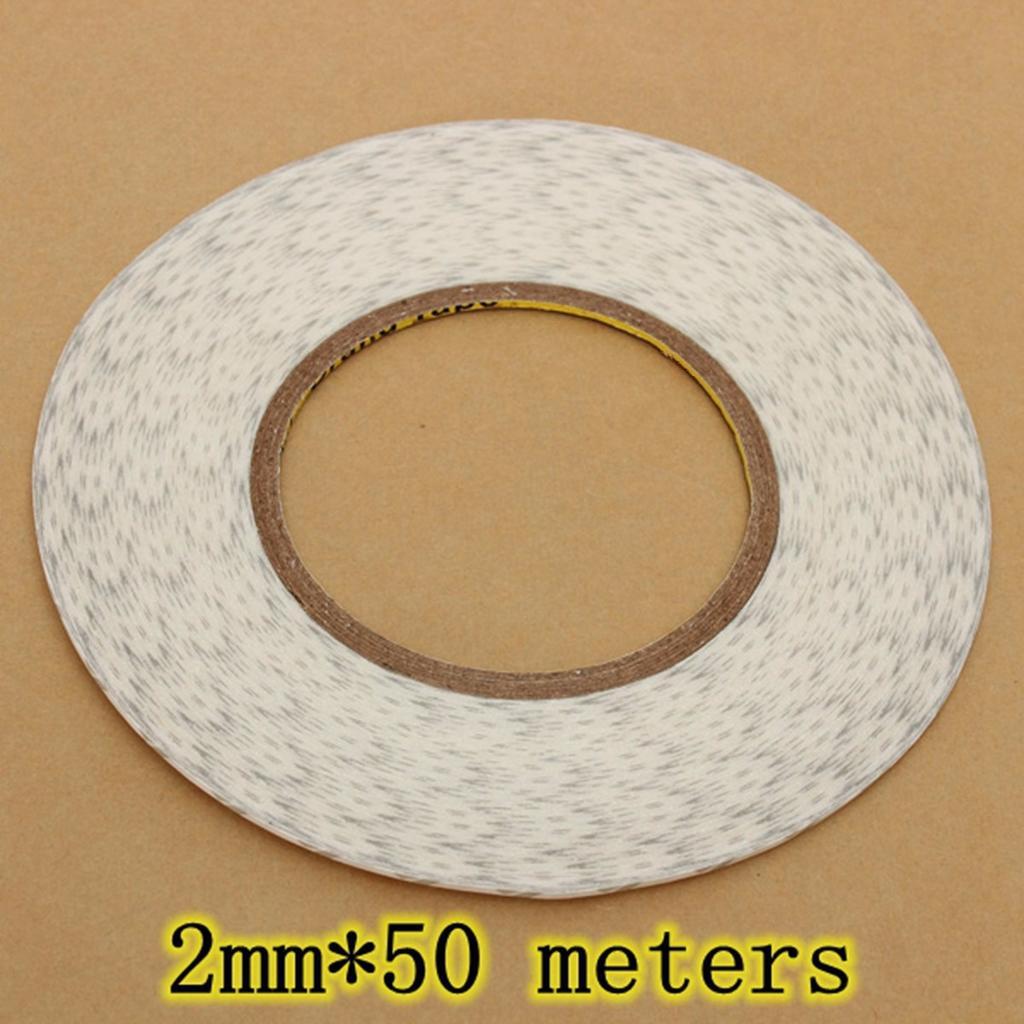 Venta Original de fábrica 2mm * 50M 3M cinta adhesiva de doble cara para teléfono móvil/Reparación de pantalla LED, cinta SMT envío gratis