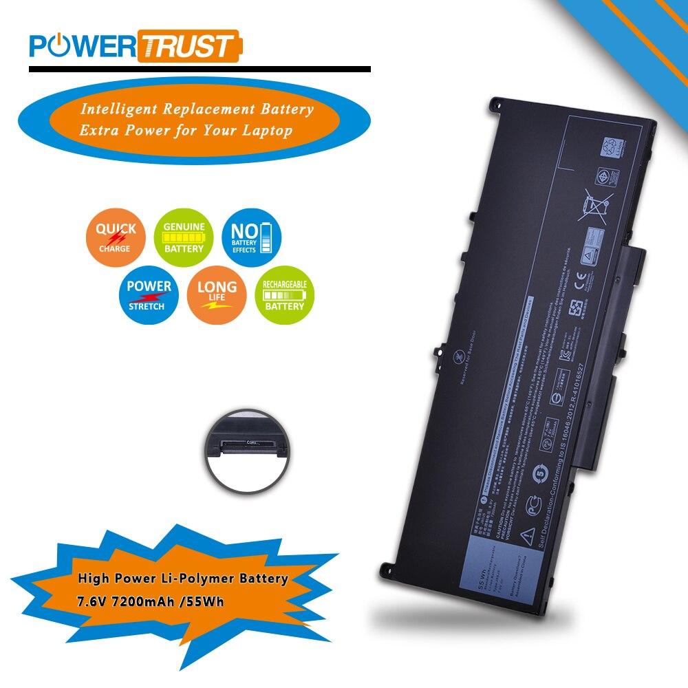 1PC Laptop Battery J60J5 for Dell Latitude E7270 E7470 Series Notebook R1V85 451-BBSX 451-BBSY 451-BBSU MC34Y 242WD
