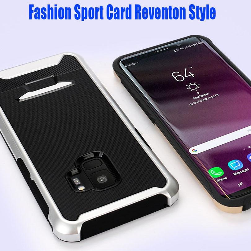 50 unids/lote para Samsung Galaxy Nota 9 S9 Plus deporte coche Reventon estilo Neo híbrido de silicona TPU + PC cubierta funda a prueba de caídas SN92