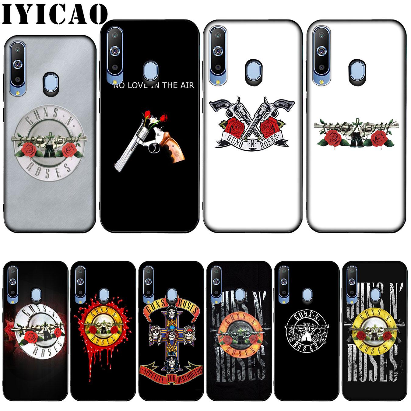 IYICAO guns n roses Silicone Soft Case for Samsung Galaxy A10 A30 A40 A50 A70 M10 M20 M30 Cover