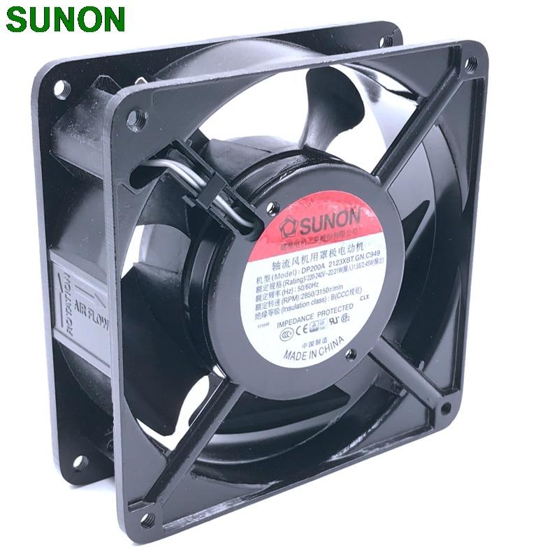 cooling fan 220V 230V fan New For Sunon DP200A 2123XBT.GN 12CM 120*120*38MM 12038  socket case industrial cooling fan new nmb original 12038 24v 0 46a 4715kl 05t b40 120 120 38mm cooling fan