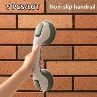 5 pcslot bathroom suction cup handle grab bar for elderly safety bath shower tub bathroom shower grab non slip handle rail grip