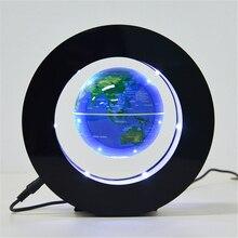 Creative Floating Magnetic Levitation Globe Night Light World Map Ball Lamp Novelty Lighting Office Home Decor Terrestrial Globe