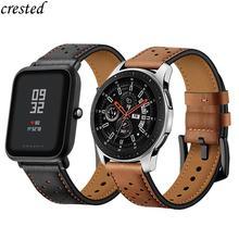 Bracelet 20/22mm pour montre Galaxy 46mm/42mm/actif Samsung Gear S3 frontier/S2/Sport bracelet en cuir véritable Huawei Watch GT S 3 2 46