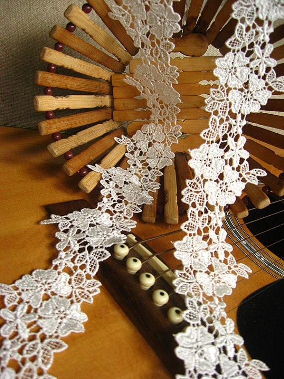 Guarnição do Laço Flores do Vintage Nupcial para Véu Metros Branco Crochê Venise Floral Retro Guarnição Laço Nupcial Acessórios Lt050ve 5