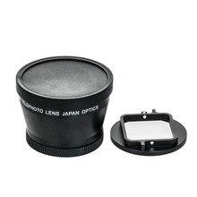 Lente Zoom HD superteleobjetivo Universal 52mm cámara Digital profesional para Gopro GOPRO 3 + 4 para Xiaoyi EM88