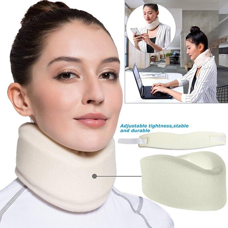 Бандаж для шеи из мягкой пены унисекс, поддержка шейного воротника, для облегчения боли в спине, Корректор осанки, уход за шеи, наборы туалетных принадлежностей