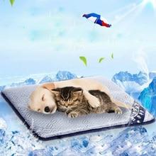 Tapis de refroidissement pour chien de compagnie   Nid de chat, chien noir, tapis de chiot, soie, tapis Cool, accessoires pour animaux de compagnie créatifs
