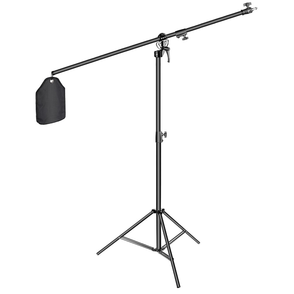 Neewer תמונה סטודיו 2-in-1 אור Stand 48.4-151.5 סנטימטרים מתכווננת גובה עם 85-אינץ בום זרוע וצק חול, אלומיניום סגסוגת