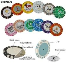 Personnalisez les ensembles de jetons de Poker en argile avec le logo de conception et la dénomination par vous-même