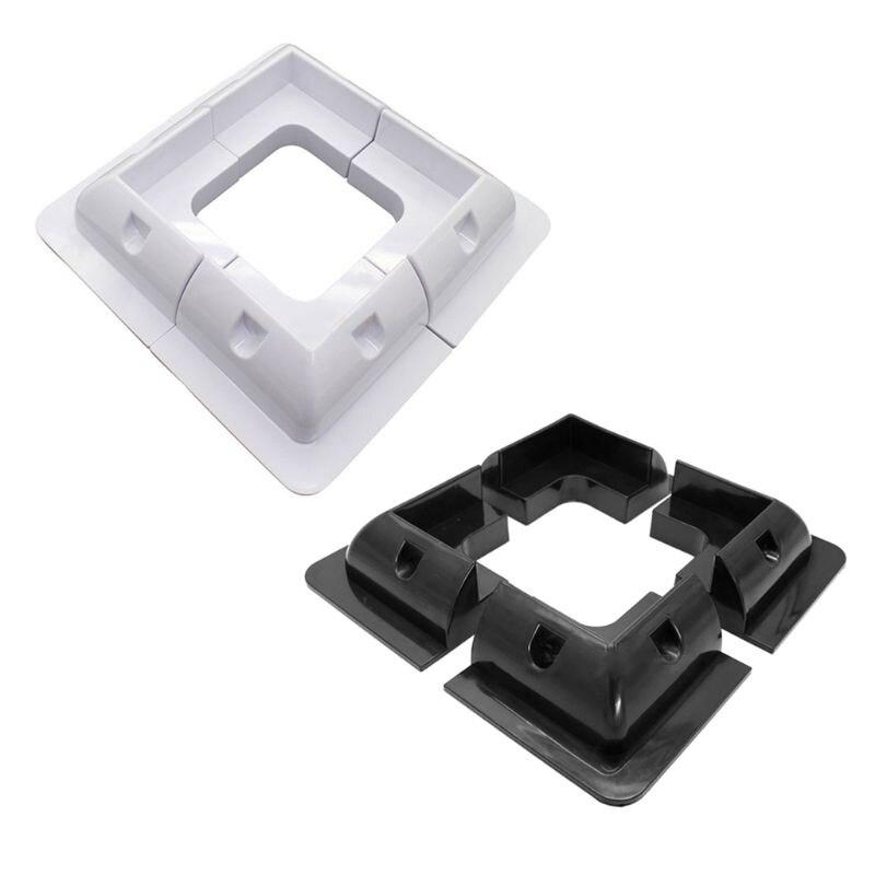 4Pcs ABS Edges Solar Panel Mounting Brackets Black White Corner Set Kit For Yacht/Solar Panel W91F