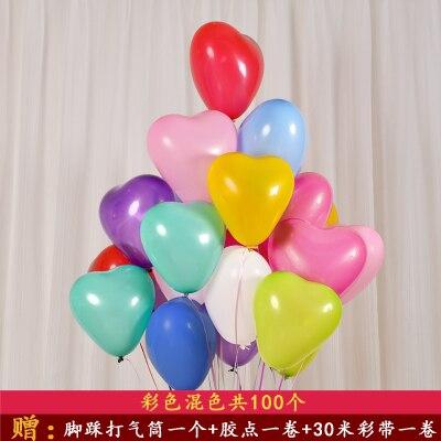 20 Uds multicolor 12 polegada coracao deu forma un baloes De látex de casamento ¿amor ¿coracao bolas de ar balao de helio De diciembre