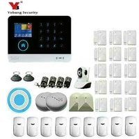 Yobang-systeme dalarme wifi GSM   Securite  applications TFT Android IOS  clavier tactile  applications Android ISO  systeme dalarme pour maison intelligente anti-cambrioleur