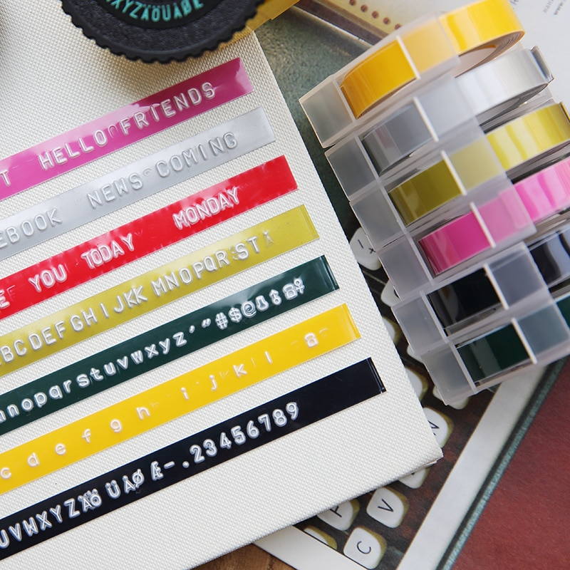 9mm * 3m DIY Label Maker Band Schriftsteller Büro Geschenk Label Klebeband Scrapbooking Marker Embosser Band