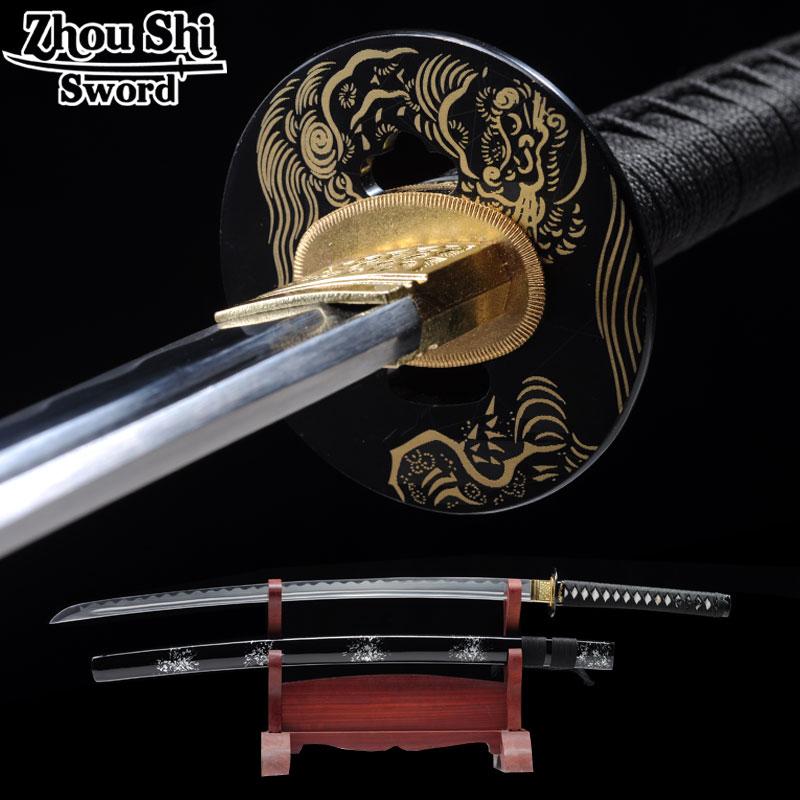 Katanas creativas 1095 acero Espada Katana hecha a mano exquisito equipo Espada regalos de Metal